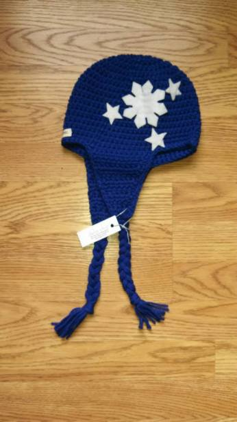 Hand-knitted Philippine Flag Cap. By delachic. $35.00. Available in blue (above). One size.
